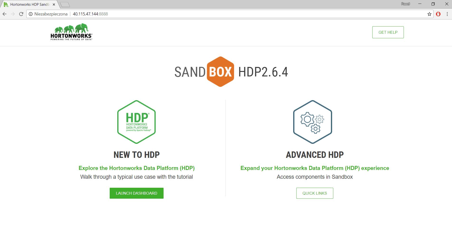 How to install Hortonworks Sandbox with Data Platform in