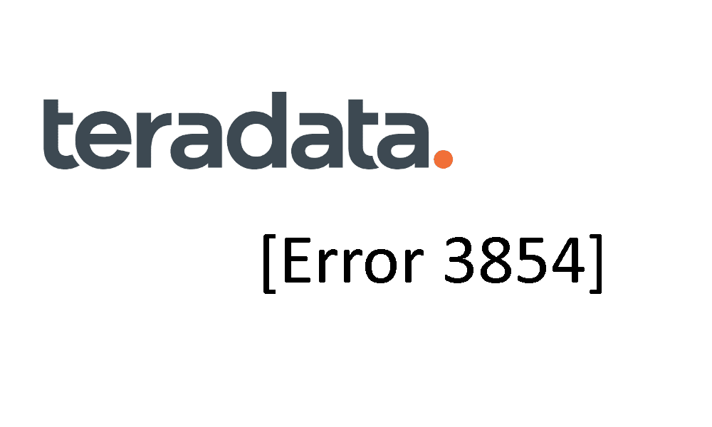 [SOLVED] Teradata: Error 3854 [SQLState HY000] <your object name> is not a view.