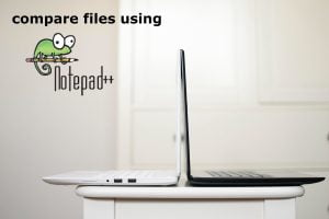 How to compare two files in Notepad++ v7.8.1